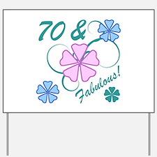 Fabulous 70th Birthday Yard Sign