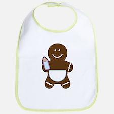 Gingerbread Boy baby Bib