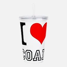 I Love Coal Acrylic Double-wall Tumbler