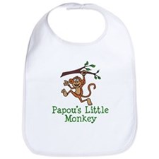 Papou's Little Monkey Bib