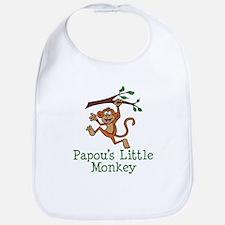 Papou's Little Monkey Bib