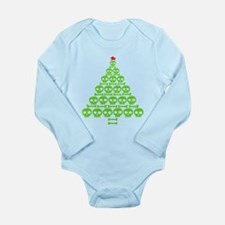 Skull Xmas Tree Long Sleeve Infant Bodysuit