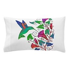 Rainbow Hummingbird on Trumpet Vine Pillow Case