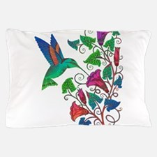 Rainbow Hummingbird on Trumpet Vine Pillow Case