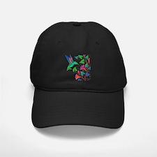 Rainbow Hummingbird on Trumpet Vine Baseball Hat