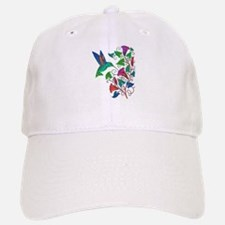 Rainbow Hummingbird on Trumpet Vine Baseball Baseball Cap