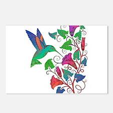 Rainbow Hummingbird on Tr Postcards (Package of 8)