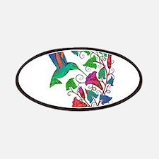 Rainbow Hummingbird on Trumpet Vine Patches