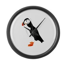 Pretty Puffin Large Wall Clock