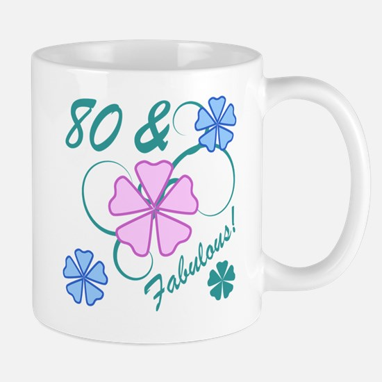 Fabulous 80th Birthday Mug