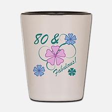 Fabulous 80th Birthday Shot Glass