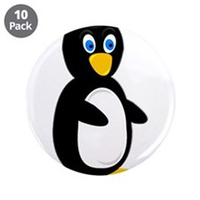 "Popeyed Penguin 3.5"" Button (10 pack)"