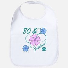 Fabulous 80th Birthday Bib