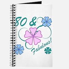 Fabulous 80th Birthday Journal