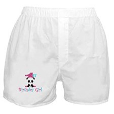 1st Birthday Girl Panda Bear Boxer Shorts