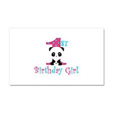 1st Birthday Girl Panda Bear Car Magnet 20 x 12