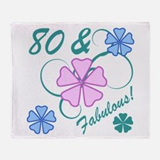 Fabulous 80th Birthday Throw Blanket