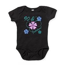 Fabulous 90th Birthday Baby Bodysuit