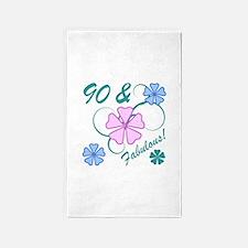Fabulous 90th Birthday 3'x5' Area Rug