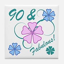 Fabulous 90th Birthday Tile Coaster