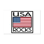 USA Rocks American Flag Mini Poster Print