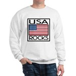 USA Rocks American Flag Sweatshirt