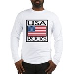 USA Rocks American Flag Long Sleeve T-Shirt