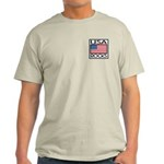 USA Rocks American Flag Light T-Shirt