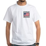 USA Rocks American Flag White T-Shirt