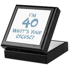 40th birthday excuse Keepsake Box