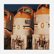 Train Engines Tile Coaster