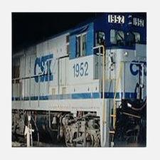 Train Engine Tile Coaster
