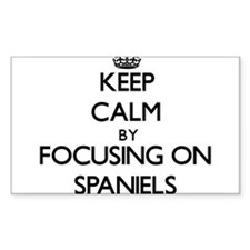 Keep Calm by focusing on Spaniels Decal