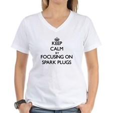 Keep Calm by focusing on Spark Plugs T-Shirt