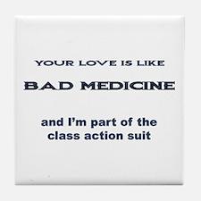 Love Litigation Tile Coaster