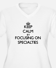 Keep Calm by focusing on Special Plus Size T-Shirt
