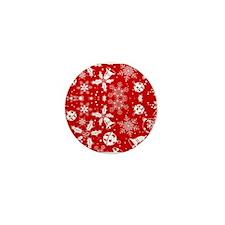 Red Xmas Jingle Mini Button