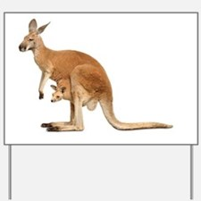 kangaroo Yard Sign