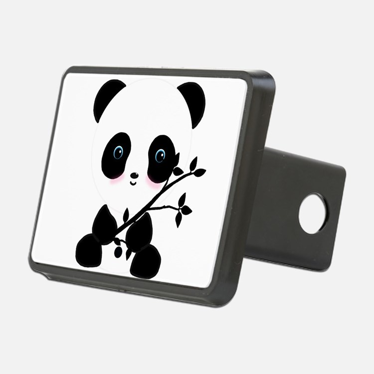 Black and White Panda Bear Hitch Cover