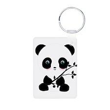 Black and White Panda Bear Keychains