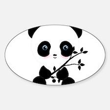 Black and White Panda Bear Decal