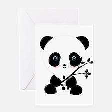 Black and White Panda Bear Greeting Cards