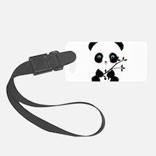 Black and White Panda Bear Luggage Tag