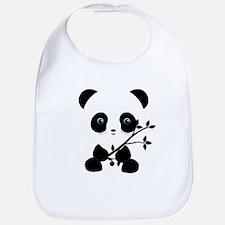 Black and White Panda Bear Bib