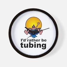 I'd Rather be tubing River Sport Wall Clock