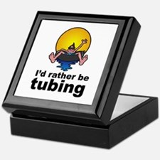 I'd Rather be tubing River Sport Keepsake Box