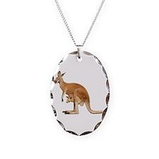 kangaroo Necklace Oval Charm