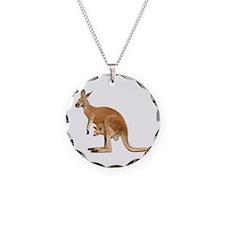 kangaroo Necklace Circle Charm