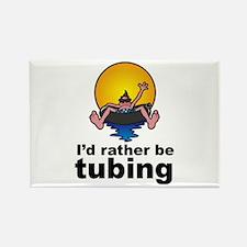I'd Rather be tubing River Sport Rectangle Magnet