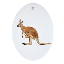 kangaroo Ornament (Oval)